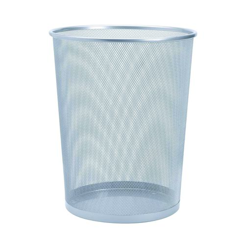 Value Wire Mesh Waste Bin Silver