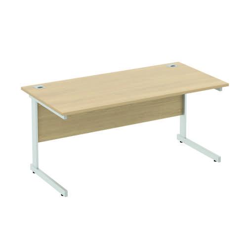 Baseline Alpha Standard Rectangular Desk 1800x600x740mm Grey ALR18/6/BG