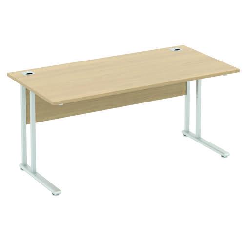 Baseline Alpha Premium Rectangular Desk 1000x600x740mm Grey ALPR10/6/BG