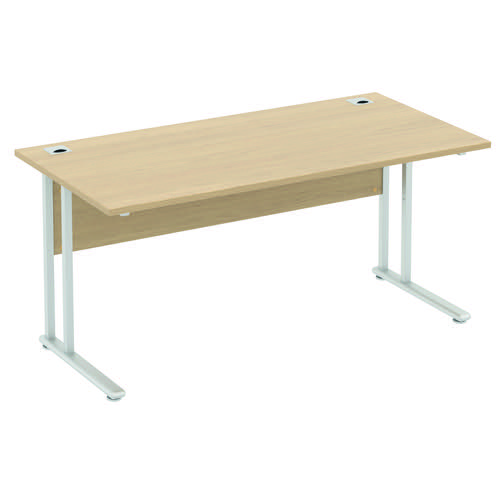 Baseline Alpha Premium Rectangular Desk 1400x800x740mm Oak ALPR14/8/BO