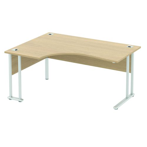 Baseline Alpha Premium Crescent Desk LH 1800x1200x740mm Grey ALPC18/LH/BG