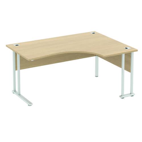 Baseline Alpha Premium Crescent Desk RH 1600x1200x740mm Grey ALPC16/RH/BG