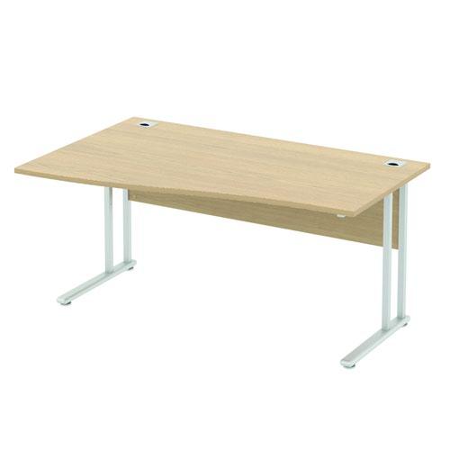 Baseline Alpha Premium Wave Desk LH 1800x800-1000x740mm Grey ALPW18/8/LH/BG