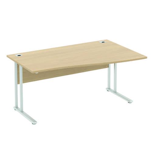 Baseline Alpha Premium Wave Desk RH 1400x800-1000x740mm Walnut ALPW14/8/RH/BWA