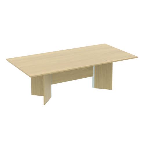 Baseline Rectangular Conference Table 2400x1200x740mm Oak ALCT24/12/BO