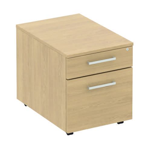 Baseline Low Under Desk Mobile Pedestal 422x500x490mm Grey BLMPF/BG