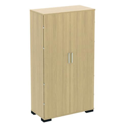 Baseline Storage Cupboard 4 Shelves 800x500x2000mm Beech BLSC20/8/BB