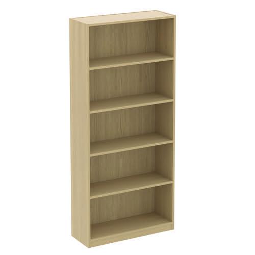 Baseline Bookcase 4 Shelves 800x400x2000mm Oak BLBC20/8/BO