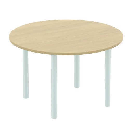 Baseline Circular Meeting Table 1600x740mm Oak ALCMT16/BO