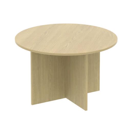 Baseline Circular Meeting Table 1200x740mm Grey ALCCMT12/BG