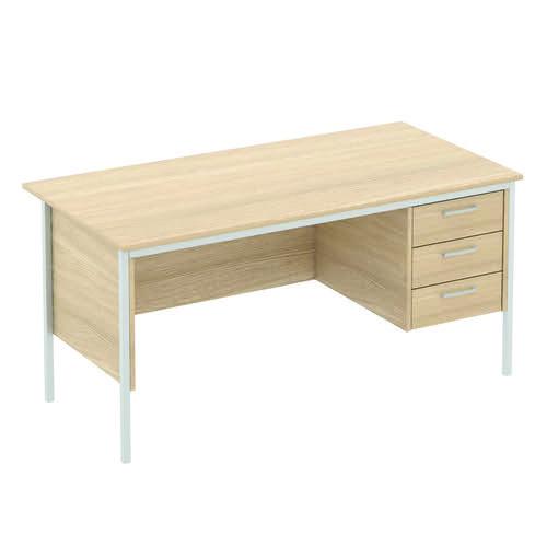Baseline Norton Rectangular Desk 3 Drawer Pedestal 1800x750x740mm Oak SP72/BO