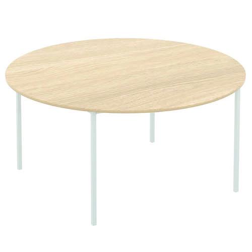 Baseline Norton Circular Meeting Table 1500x740mm Grey T60D/BG