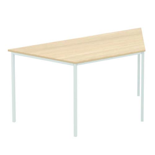 Baseline Norton Trapezoidal Meeting Table 1200x650x740mm Oak TRAP48/BO