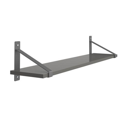 Sparta Wall Shelf & Brackets Onyx Grey SPS1000-OG