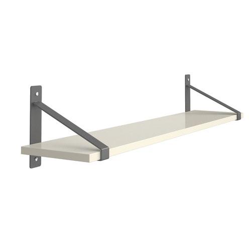 Sparta Wall Shelf & Brackets White SPS1000-WH