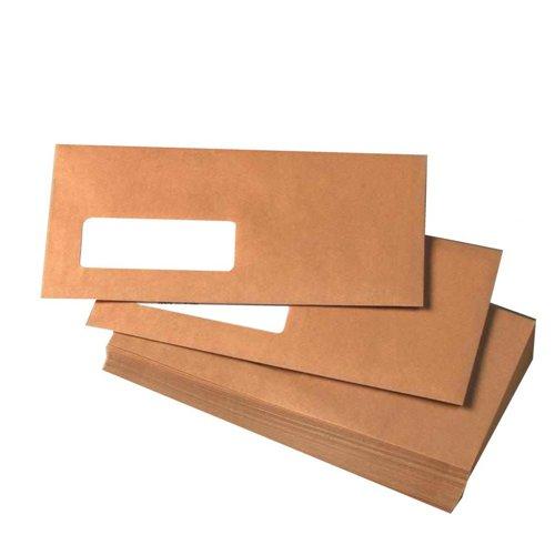 Value Pocket Envelopes Gummed Window DL Manilla 70gsm (1000)