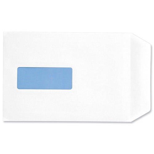 Value Pocket Envelopes Peal & Seal Window C5 White 100gsm (500)