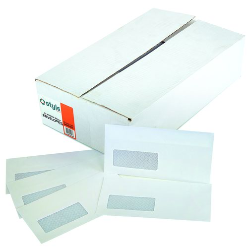 Style CORE Wallet Envelopes Self-Seal Window DL White 80gsm (1000)