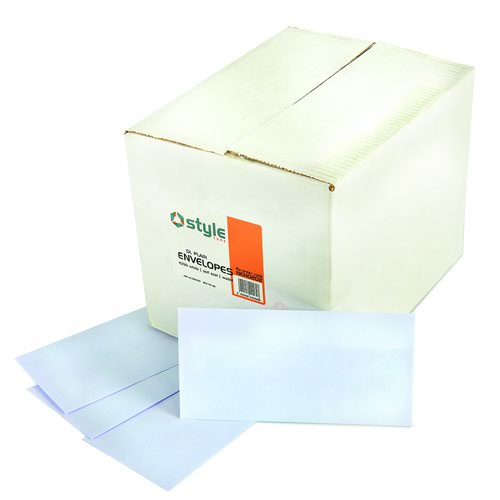 Style CORE Wallet Envelopes Self-Seal DL White 90gsm (1000)