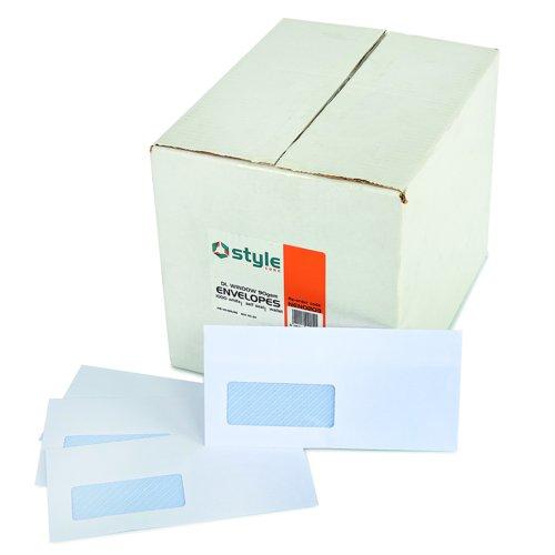 Style CORE Wallet Envelopes Self-Seal Window DL 90gsm White (1000)