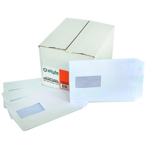Style CORE Pocket Envelopes Self-Seal Window C5 White 90gsm (500)