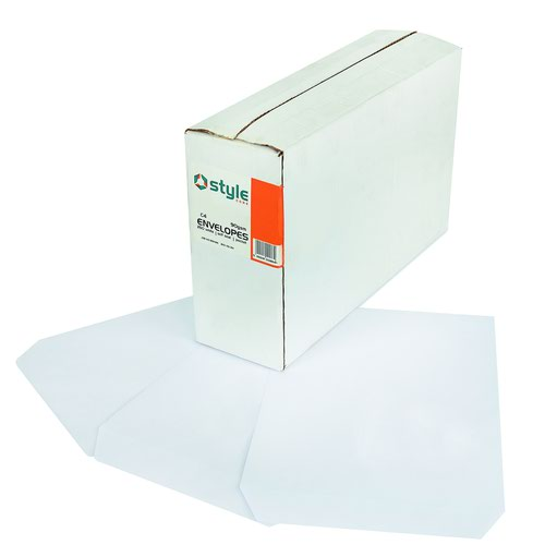 Style CORE Pocket Envelopes Self-Seal C4 White 90gsm (250)
