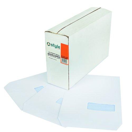 Style CORE Pocket Envelopes Self-Seal C4 Window White 90gsm (250)