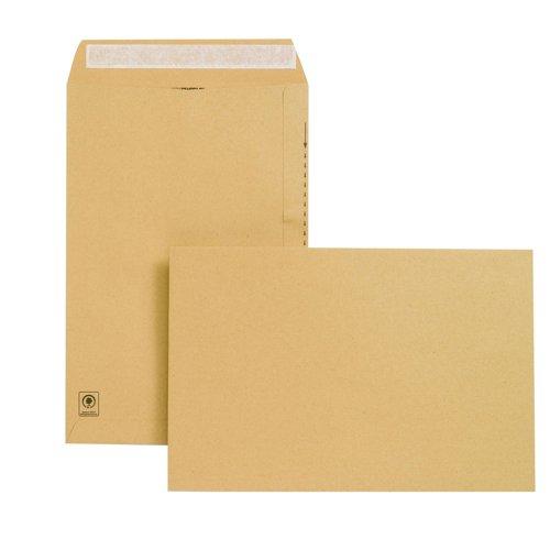 New Guardian Pocket Envelopes Peel & Seal 381x254mm Manilla 130gsm (125) E23513
