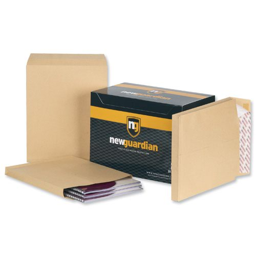 New Guardian Gusset Envelopes Peel & Seal 305x254x25mm Manilla 130gsm (100) B27166