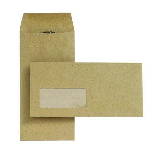 New Guardian Pocket Envelopes Self-Seal Window DL Manilla 80gsm (1000) D25311