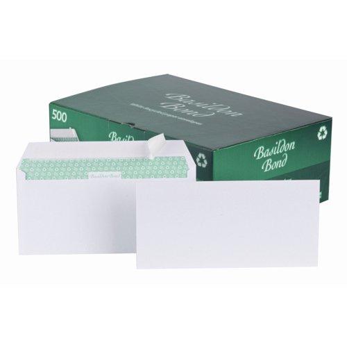 Basildon Bond Wallet Envelopes Peel & Seal DL White 100gsm (500) C80116