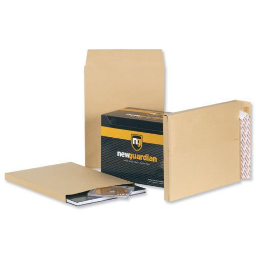 New Guardian Armour Gusset Envelopes Peel & Seal 470x300x70mm Manilla 130gsm (100) B28513