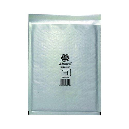 Jiffy Airkraft Bubble Lined Bag Size 4 230x320mm White (50) JL-4