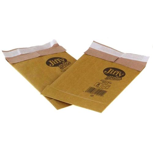 Jiffy Green Mailing Bag Size 0 132x235mm Gold (200) JPB-0