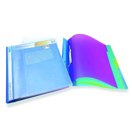 Rapesco Five Part Project File Assorted Colours (5) 0668