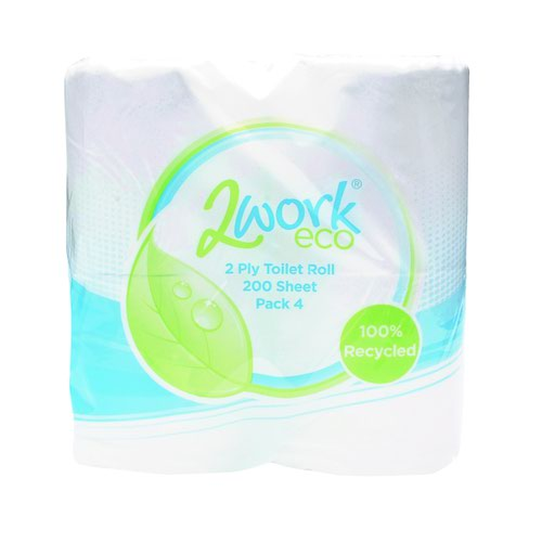 Recycled Toilet Roll Twin 2ply 200sheet White (36)