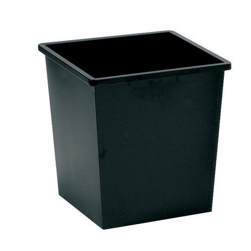 Square Metal Waste Bin 27 Litre Black