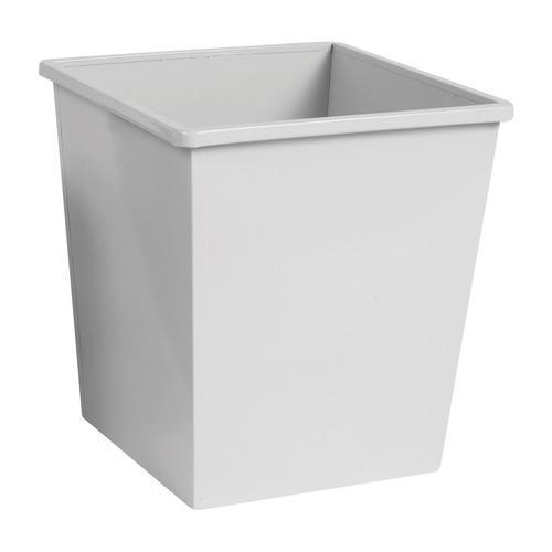 Square Metal Waste Bin 27 Litre Grey