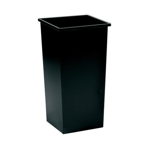 Square Metal Waste Bin 48 Litre Black