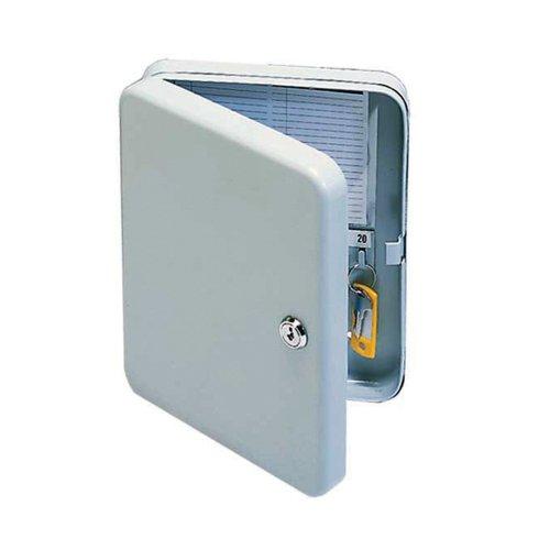 Value Key Cabinet 80 Hook Pearl Grey