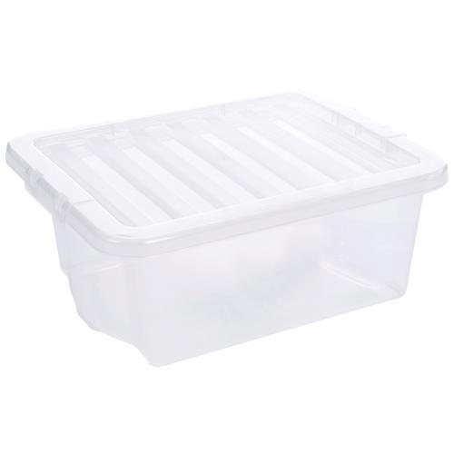 Value Plastic Stackable Storage Box 16 Litre Clear