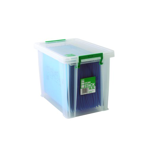 StoreStack Storage Box 18.5 Litre 400x260x290mm Clear RB11086
