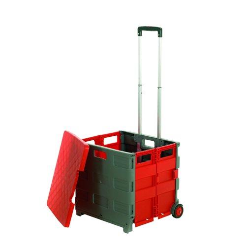 ProPlaz Folding Box Truck/Lid Grey/Red GI042Y
