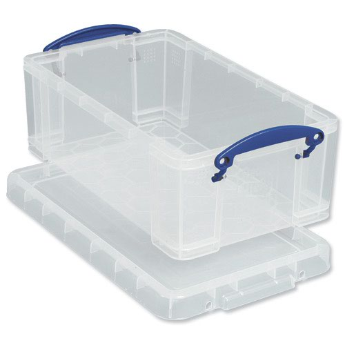 Really Useful Storage Box 9litre 390x240x155mm Clear 9C