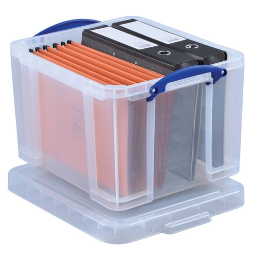 Really Useful Storage Box 35litre 500x390x300mm Clear 35C