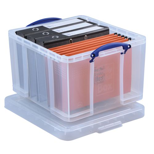 Really Useful Storage Box 42litre 520x435x310mm Clear 42C