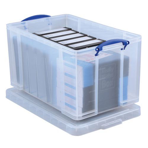 Really Useful Storage Box 64litre 715x435x300mm Clear 64C