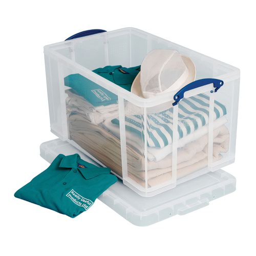 Really Useful Storage Box 84litre 715x435x360mm Clear 84C
