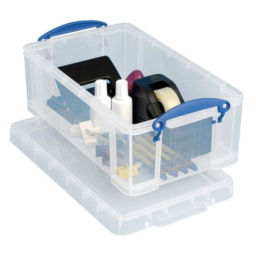 Really Useful Storage Box 5litre 200x340x125mm Clear (3) 3x5C