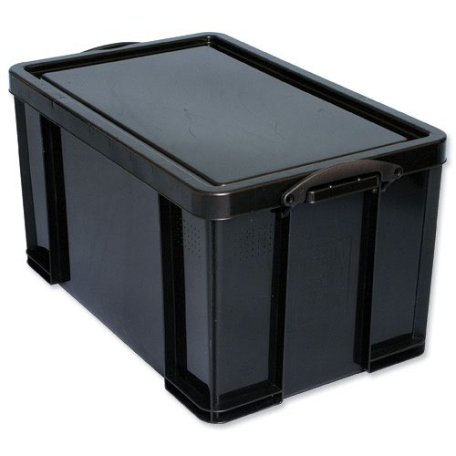 Really Useful Recycled Storage Box 84litre 715x435x360mm Black 84L